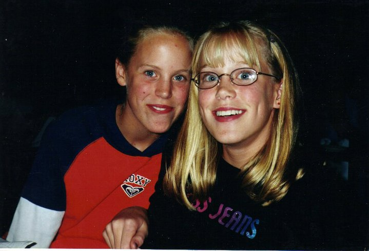 meredith and me... awkward middle schoolers, but at least awkward together