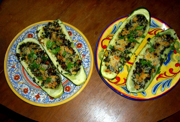 zucchini recipe, boats, organic, recipe, garden
