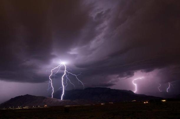 albuquerque storm, weather, flooding, lightning