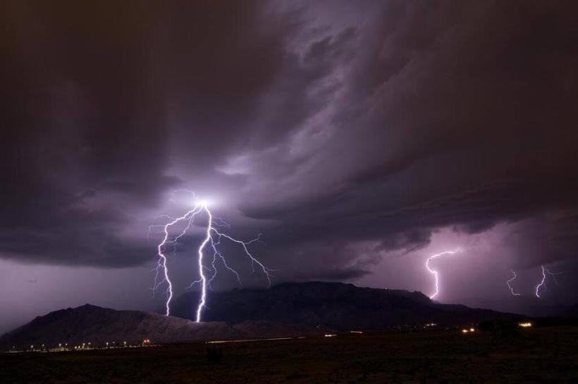 albuquerque storm, weather, flooding, lightning