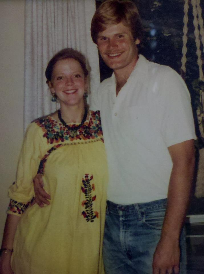 my mom, pregnant (both age 24)