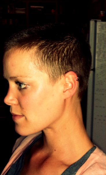 buzz cut, short hair, women shaving head