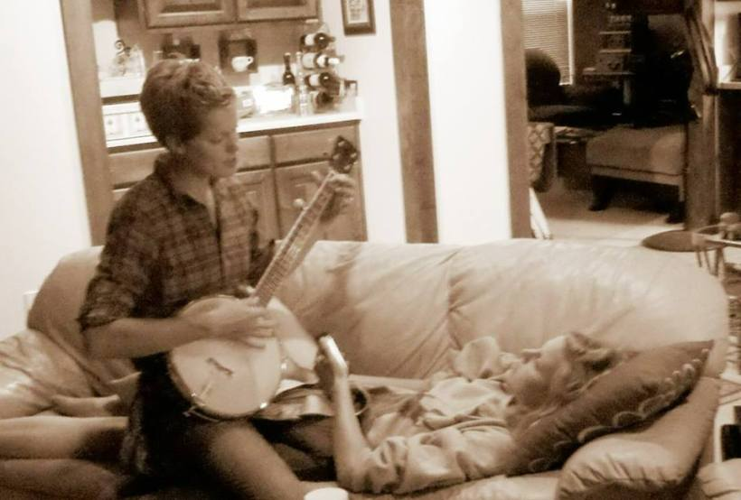 singing for Meredith when she was sick